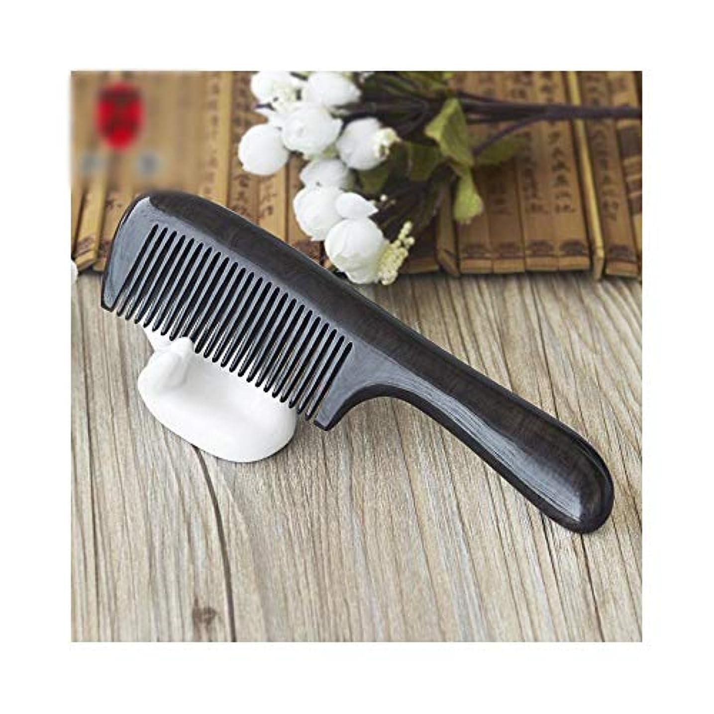 押す防水倒産WASAIO ウッドクラフトブラックサンダルウッド櫛、かゆみ頭皮を緩和するのに役立ちます、帯電防止櫛女性ウェットドライカーリーストレートヘアブラシブラシ手作り木製 (色 : 1283)