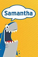 "Samantha: Great White Shark Blank Comic Book Notebook Journal book 120 pages 6""x9"""