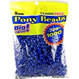 ポニー ビーズ大きな値パック 9 ミリメートル 1000年/Pkg 不透明な青