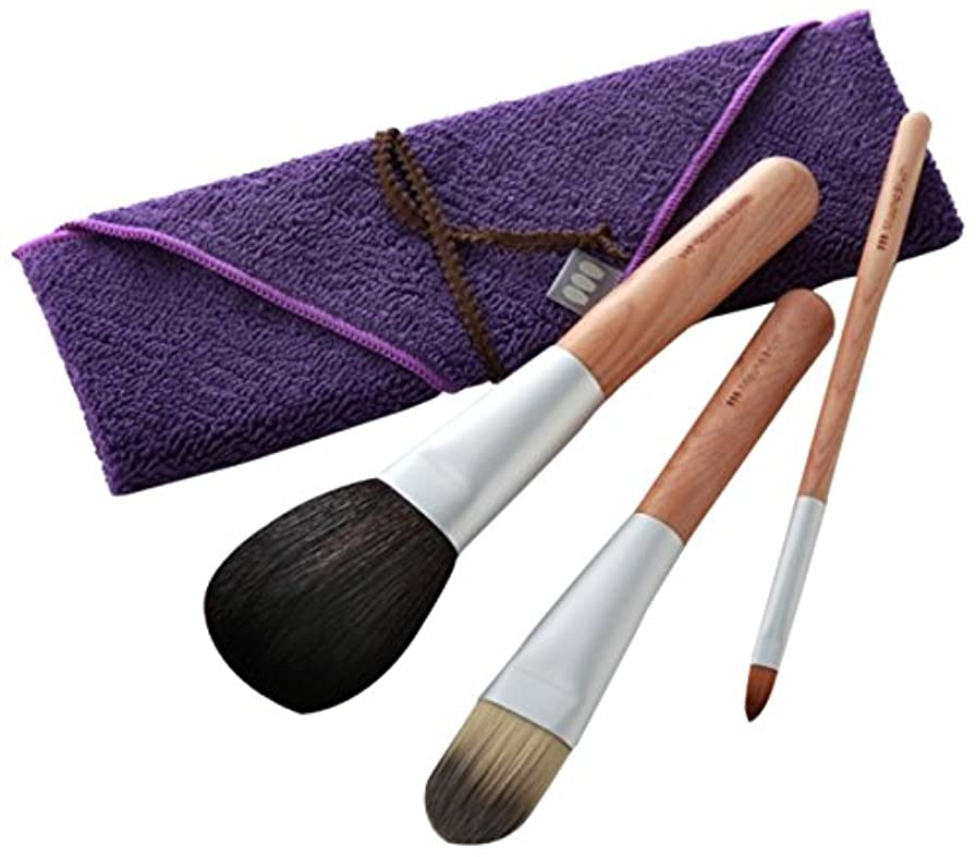 崇拝します完全に乾く選出する熊野筆 Mizuho Brush ベースメイクセット 筆包み付