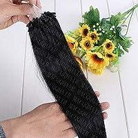 FidgetGear 7A 16-26インチのRemyの人間の毛髪延長の容易なループマイクロリングシリコーンビーズ #01漆黒