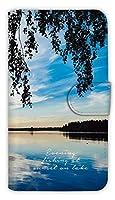[アングラーズケース] 日が沈む湖で毎日釣りをします スマホ ケース (商品コード: diary2015102805)