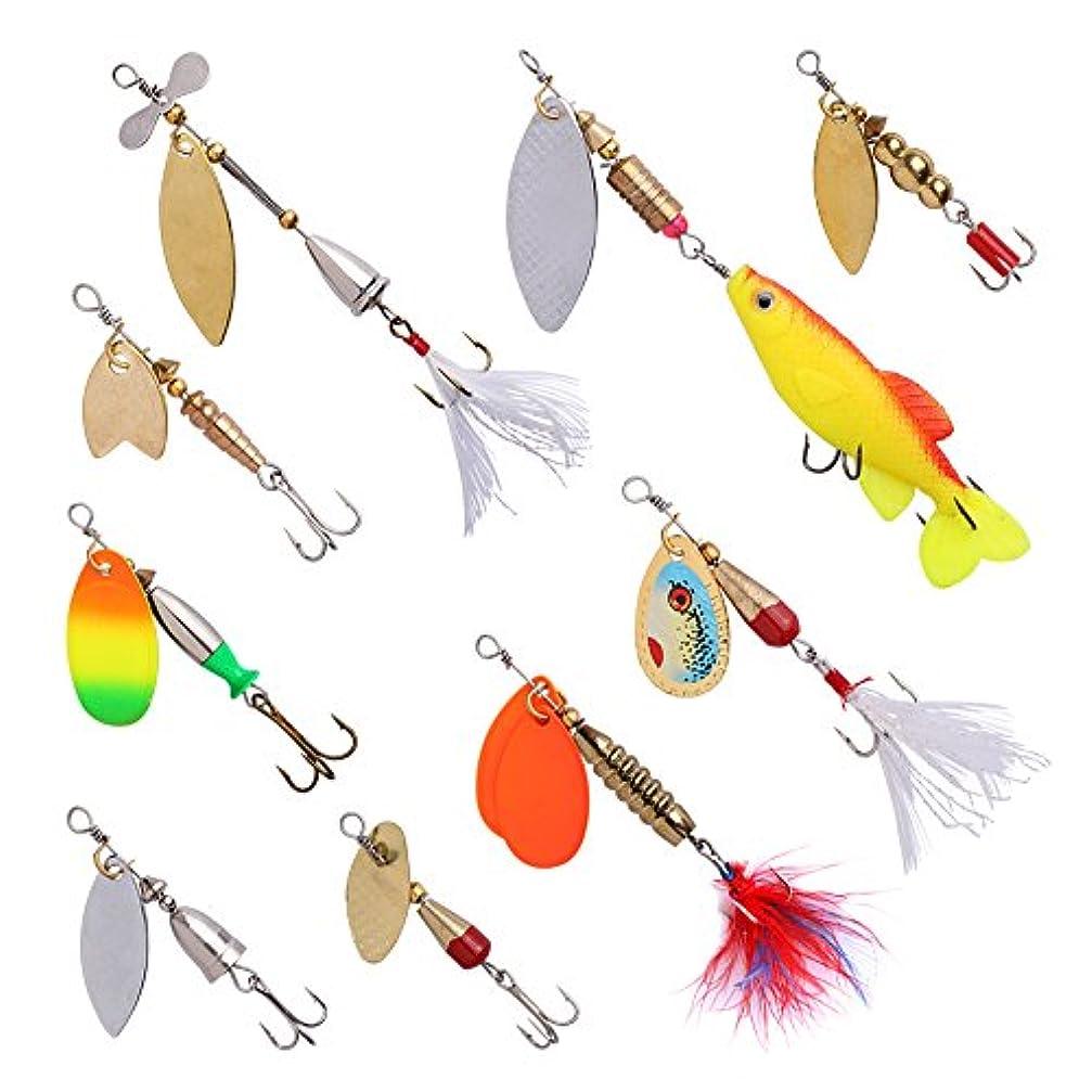 遺跡見込みマントルGoture Spinnerbait釣りルアー金属ハードルアーキットを釣りタックルボックスfor Bass、トラウト、Walleye、サーモン、香り、Pike