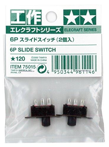 エレクラフトシリーズ No.15 6Pスライドスイッチ(2個入) 75015