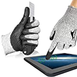 Achiou Cut Resistant Working Gloves Level 5 Protection, Touchscreen, Lightweight, Power Grip Resin Coated Multifunctional Gloves for Gardening, Fishing, Work, Construction, Clamming, Restoration Work