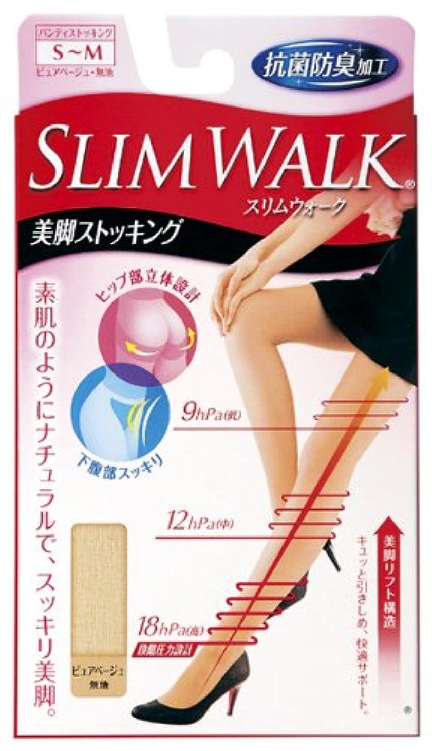 コーヒー武装解除ペニースリムウォーク 美脚ストッキング S-Mサイズ ピュアベージュ(SLIM WALK,pantyhose,SM)