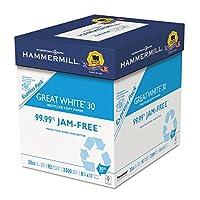ケース安全2500x 20lb 8–1/ 2x 11Greatホワイトリサイクルコピー用紙