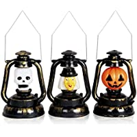 ハロウィン ランタン Meita 怖い 復古風 飾り LED カボチャランタン どくろ 巫女 提灯 便利である (カボチャ)