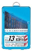 スリーアキシス(three axis) 13pce 鉄工ドリル ハイス 21753 (金属・金工)