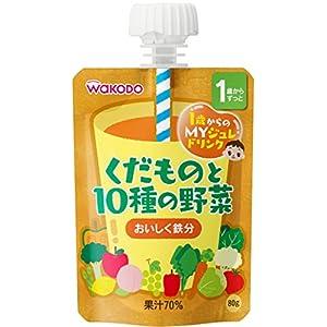 1歳からのMYジュレドリンク くだものと10種の野菜×6袋