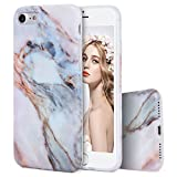 Imikoko iPhone 7 ケース iPhone7 大理石 マーブルストーン ソフト女性 iPhone7 case (iPhone 7, White 1)