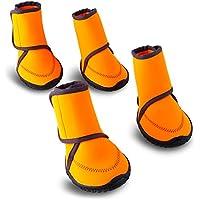 HAVEGET ドッグブーツ 犬用靴 愛犬のお散歩 滑り止め 雨の日 柔らか 軽い 中型、大型犬にもフィット 7サイズ選べる ドッグシューズ 犬靴(L)