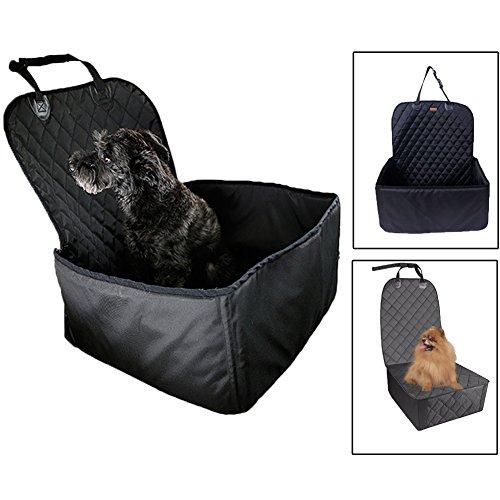 JTENG ペットドライブボックス 犬猫 ドライブシート 2WAY 車用ペットシート 防水 滑り止め 助手席 後部席 カーシートカバー 中小型犬用 ペット カー用品 犬 ドライブ用品 汚れに強い 水洗い可能