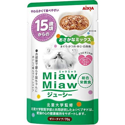 MiawMiaw ミャウミャウ ジューシー 15歳頃からのおさかなミックス 70g×12袋