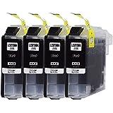 LC213BK ブラック4個セット ICチップ付き BROTHER 互換インク 残量表示可能  ( LC213BK ×4 )  MFC-J5820DN / MFC-J5720CDW / MFC-J5620CDW / DCP-J4220N / MFC-J4720N / DCP-J4225N / MFC-J4725N  [ ZAZ FFPパッケージ(213BK) 〕