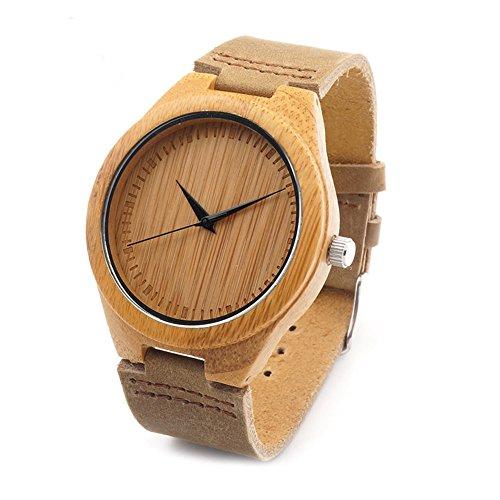 木製腕時計 ウッドウォッチ 竹の木 腕時計 メンズ アナログ腕時計 本革バンド 天然木 クリスマスプレゼント 贈り物