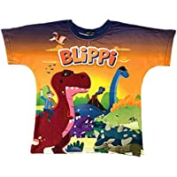 Blippi Official Child Dino Song Dinosaur T-Shirt for Kids Size 4T