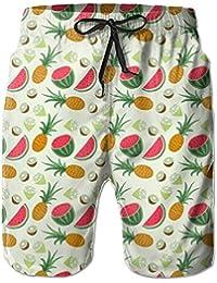 パイナップル メンズ サーフパンツ 水陸両用 水着 海パン ビーチパンツ 短パン ショーツ ショートパンツ 大きいサイズ ハワイ風 アロハ 大人気 おしゃれ 通気 速乾