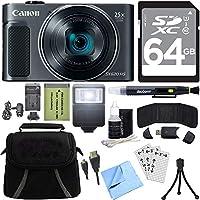 Canon PowerShot sx620HS 20.2MPデジタルカメラ(ブラック) with 64GBカードアクセサリーバンドル