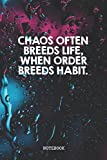 """Notebook: I Love Math Chaos Theory Planner / Organizer / Lined Notebook (6"""" x 9"""")"""