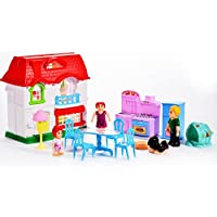 FairyStar Happy Family Toy House Sets with Furniture for Kids Birthday Gifts Pretend Play