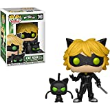 Funko Cat Noir w/Plagg: Miraculous - Tales of Ladybug & Cat Noir x POP Animation Vinyl Figure + 1 Animation Themed Trading Card Bundle [ 360/28638]