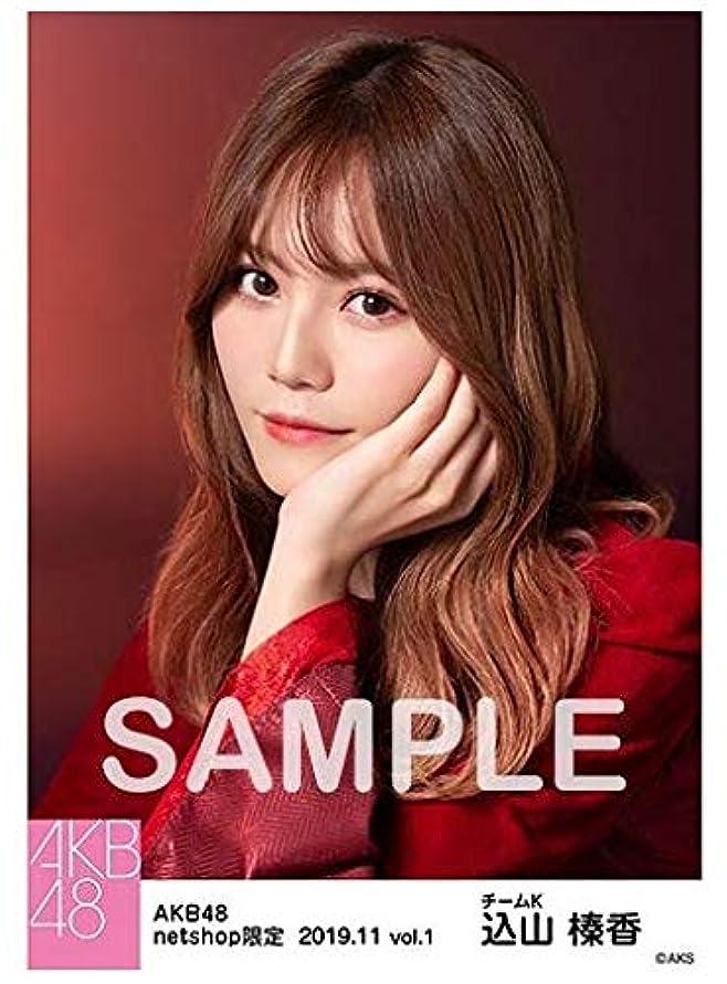 学校の先生ビール不従順AKB48 込山榛香 2019年11月 net shop限定 生写真 vol.1 5枚セット コンプ