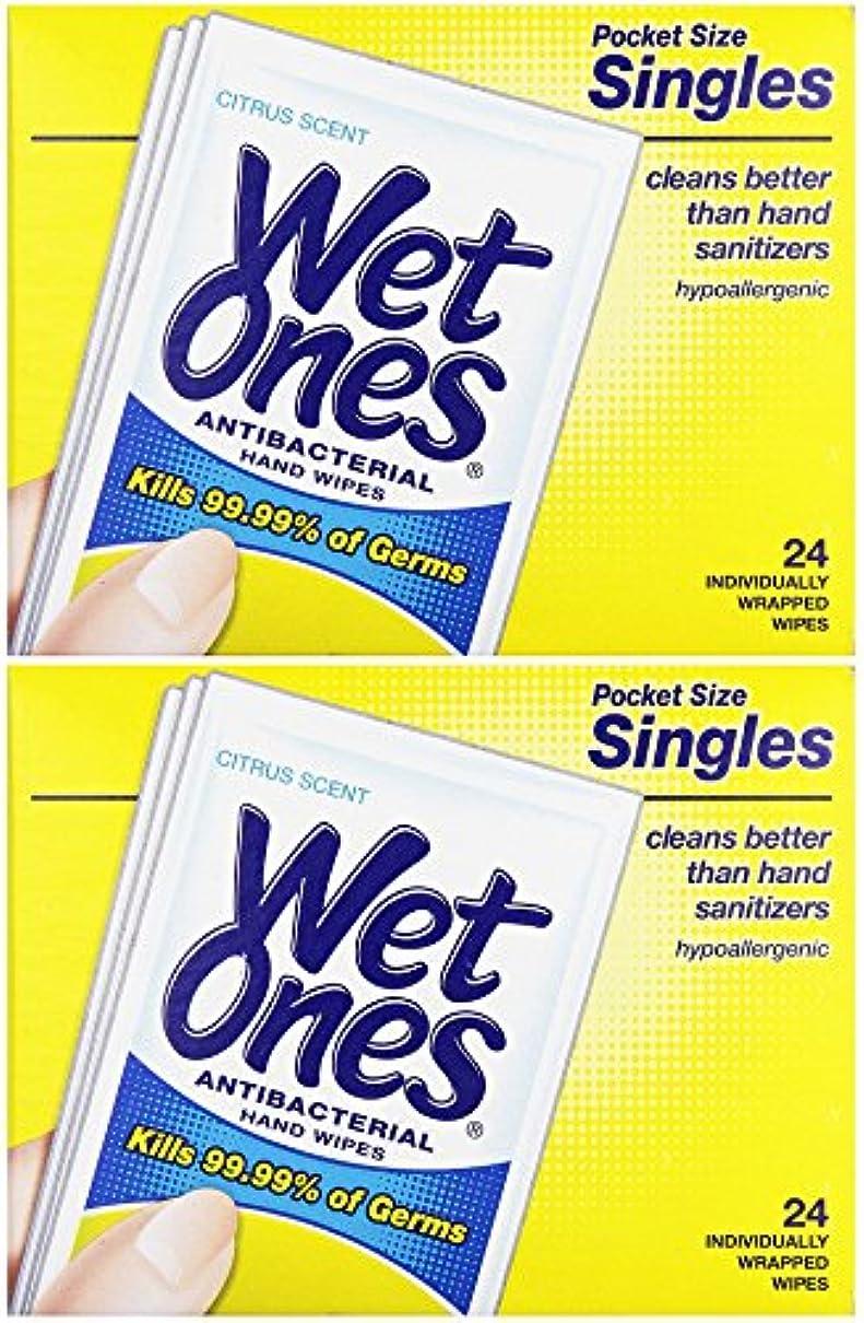 一節脚本軽蔑する濡れOnesウェットティッシュ抗菌Citrus Singles 24 ea (パックof 2 )