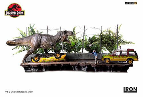 ジュラシック・パーク/T-REX ティラノサウルス アタック 1/10 バトルジオラマシリーズ アートスケール スタチュー コンプリートセット