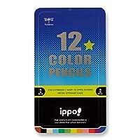 スライド缶入色鉛筆(男の子) ポップ体 音符 彫刻 CL-RRM0412C 12色セット トンボ鉛筆 ippo! 名入れ無料 名入れ えんぴつ 鉛筆 mirai