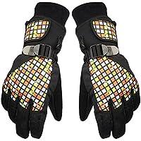 通気性、伸縮性と保護用cold-proofグローブフルフィンガー手袋(イエロー)