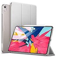 ESR iPad Pro 12.9 2018 ケース Apple Pencil2のペアリングとワイヤレス充電対応 iPad Pro 12.9 2018 カバー 軽量 薄型 PUレザー 三つ折スタンド オートスリープ機能 2018年秋発売のiPad Pro 12.9インチ専用(グレー)