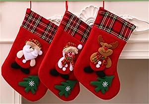 細やかな作りと立体的なデザイン、手作り感も満載です。幸せで美しいクリスマスを生成するために繊細な飾りです。 クリスマスイヴの夜、枕もとにぶらさげていた大切な大切なくつした・・ 今夜はサンタさんがやってくる!わくわくして眠れない!! そんな子供たちのために、手早くクリスマスソックスを手に入れ、お菓子やクッキーなどのプレゼントを入れ、子供にサプライズを!!! サプライズが終わったらまくらもとにぶらさげて、ごゆっくりおやすみ また、ツリーや玄関にぶらさげてお楽しみください 明るい色彩のほんわかキャラク...