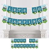 Bigドットの幸せのHAPPY CAMPER – キャンプパーティーホオジロバナー – パーティーデコレーション – Let 's Go Camping