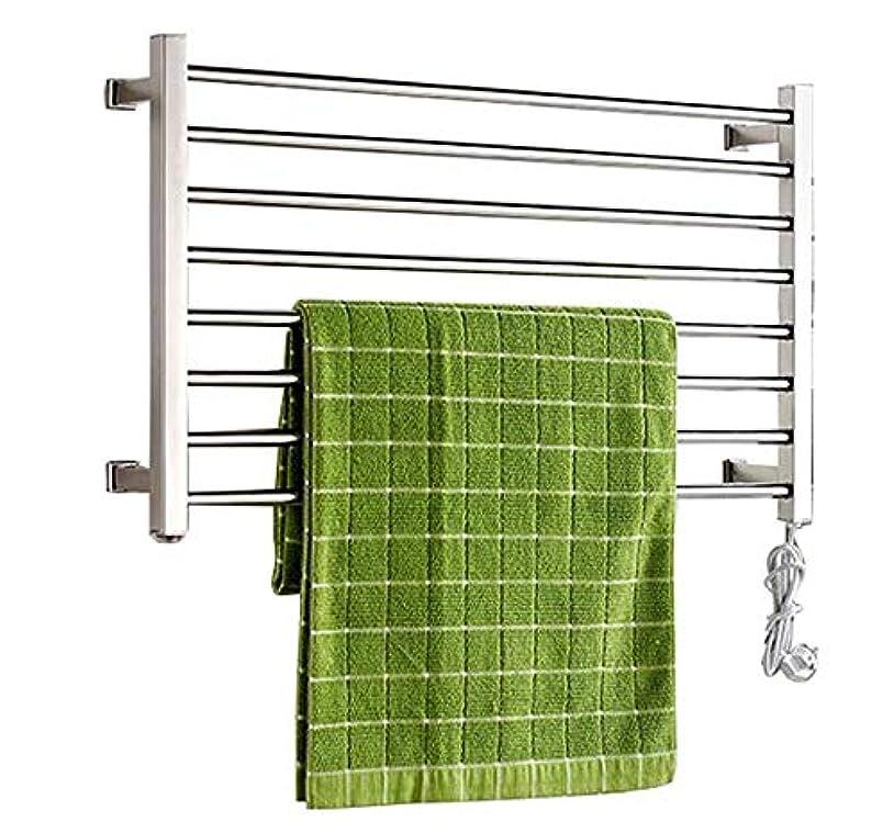 メロドラマくフラスコ電気タオルウォーマー、304ステンレス鋼電気タオルラジエーター、浴室壁掛け式乾燥ラック、恒温乾燥、防水および防錆、530x900x125mm