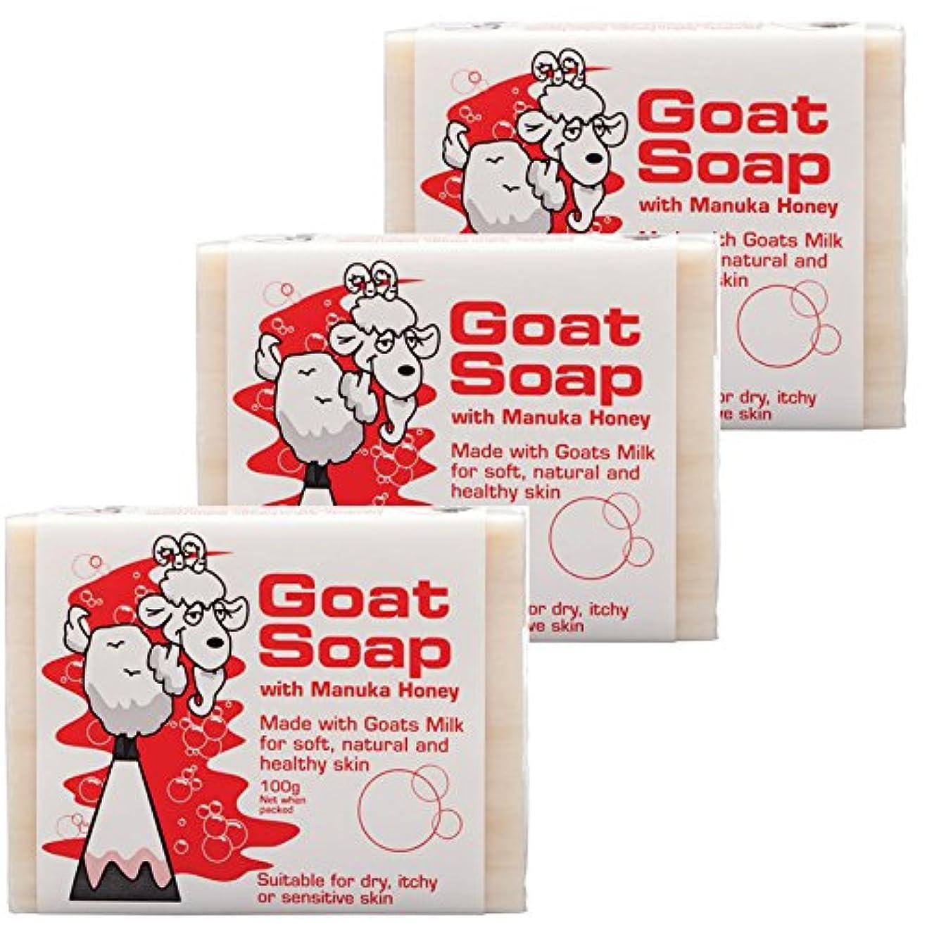 地平線イチゴ振るうThe Goat Skin Care(ゴートスキンケア) ゴートソープ 100g 3個セット 【並行輸入品】【海外直送品】 (マヌカハニー 3個セット)