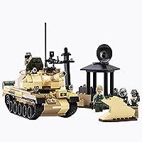 Peacetech 戦車ブロック T-62 ミリタリー プラモデル おもちゃ 無限軌道?砲台は回転可能