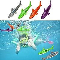 OVERMALトイおもちゃDiving Underwater SwimmingプールGliding Shark投げTorpedo Summer Fun