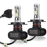 ANYQOO AUTO 正規品 車検対応 12V専用 車用LEDヘッドライト H4 Hi/Lo 切り替えタイプ 最新型ソールCSPチップ搭載 CSP社製ledチップ搭載 50W (25W x2) 8000LM (4000LM x2) 6500k 3年保証 ホウイト 2個セット