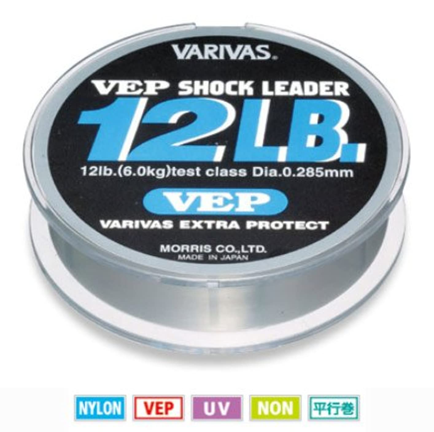 パターンフィクションゲージモーリス バリバス VEP ショックリーダー ナイロン 12~20lb