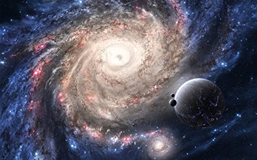 絵画風 壁紙ポスター (はがせるシール式) 銀河 ギャラクシー スター 宇宙...