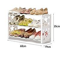 3段靴ラックフリーコンビネーションオーガナイザー棚プラスチック棚保管靴キャビネット(2色)60 * 19 * 35cm (色 : #1)