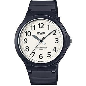 [カシオ]CASIO 腕時計 スタンダード アナログウォッチ ワイドフェイス ホワイト×ブラック 国内メーカー保証付き MW-240-7BJF