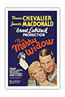 The Merry Widow - 主演 Maurice Chevalier, Jeanette MacDonald - Ernst Lubitsch監督 - ビンテージなフィルム映画のポスター c.1934 - アートポスター - 76cm x 112cm