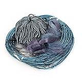 uxcell 単繊維 4cm x 4cmメッシュ 3層 釣りの刺し網 長さ30M 高さ1.5M