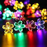 Arisen クリスマス イルミネーション 花 桜 電飾ライト led電池式 5.3m 50球 ライト 新年 飾り付け (多彩カラー)