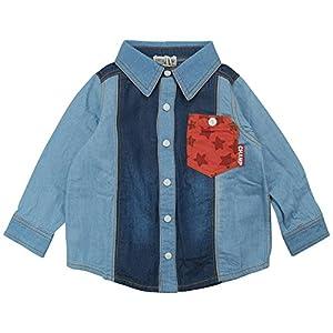 【春物】 CHILD CHAMP(チャイルド チャンプ) ダンガリーロールアップ長袖シャツ 80cm /NB NO.C-86161203