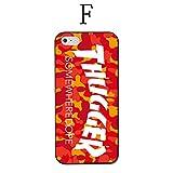 iPhone7ケース 全機種対応 THUGGER スケボー skate リアーナ マガジン ストリート系女子 ハードケース iPhone7plus/6/6s/5/5s/SE/5c (iPhone6/6s, F)