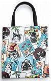 日本製 猫柄バッグ お遊び猫 ミニトートバッグ レディース 人気 ランチトート かわいい 猫 グッズ 雑貨 バッグ USAコットン