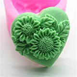 Love Big Flowers Silicone Fondant Cookie Cake Decorating Baking Mold Tools